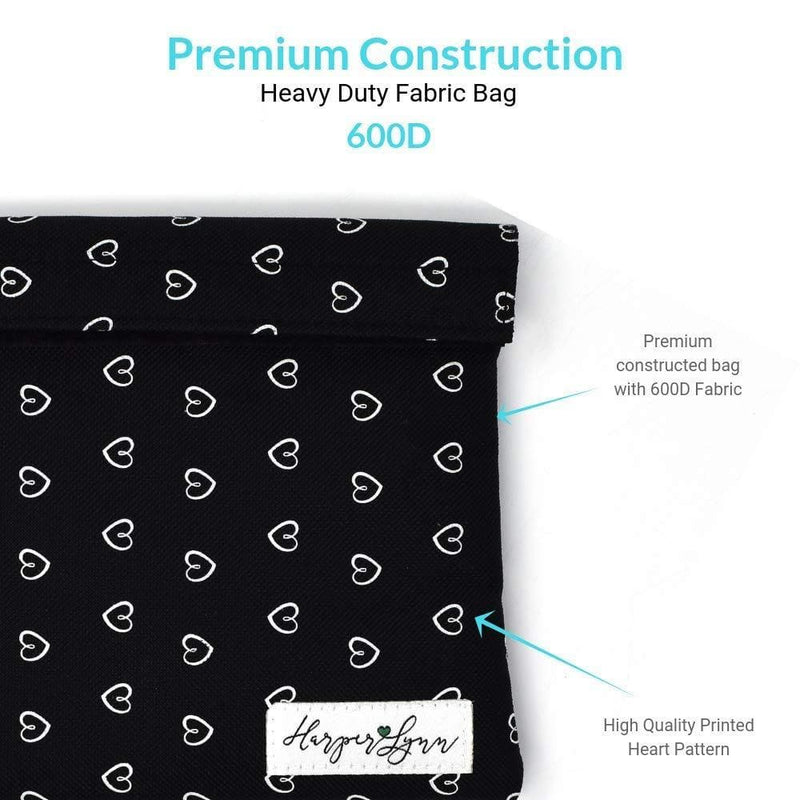 Formline x HarperLynn Smell Proof Bag - Premium Odor Proof Travel Pouch with Mesh Divider