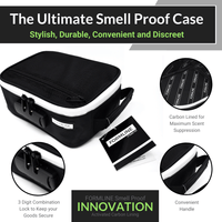 Smell Proof Case / Bag with Combination Lock (8 x 6 x 3 Inches)