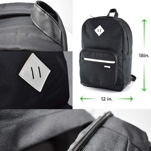 Smell Proof Backpack - Functional Laptop Book Bag with Built in Odor Proof Front Pouch