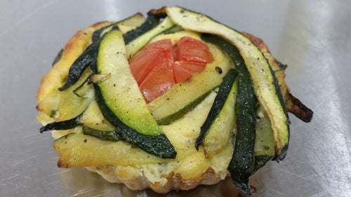 Pine nut & vegetable tart.