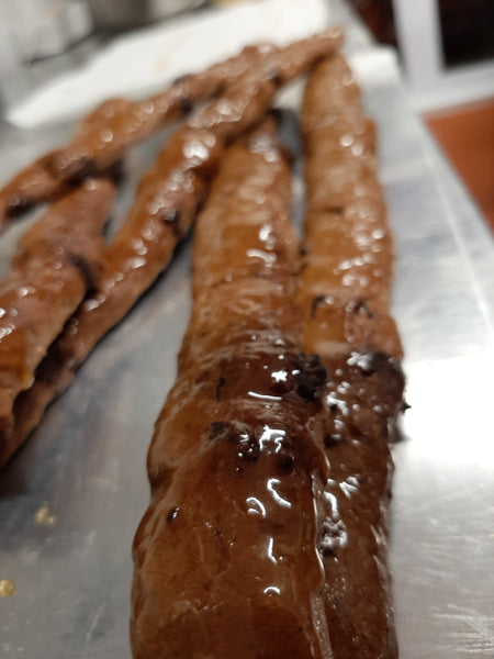 Chocolate & spiced orange bread sticks