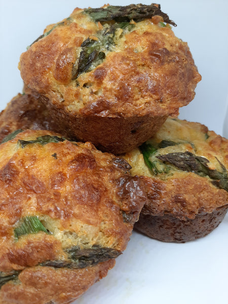Asparagus &  cheese muffin