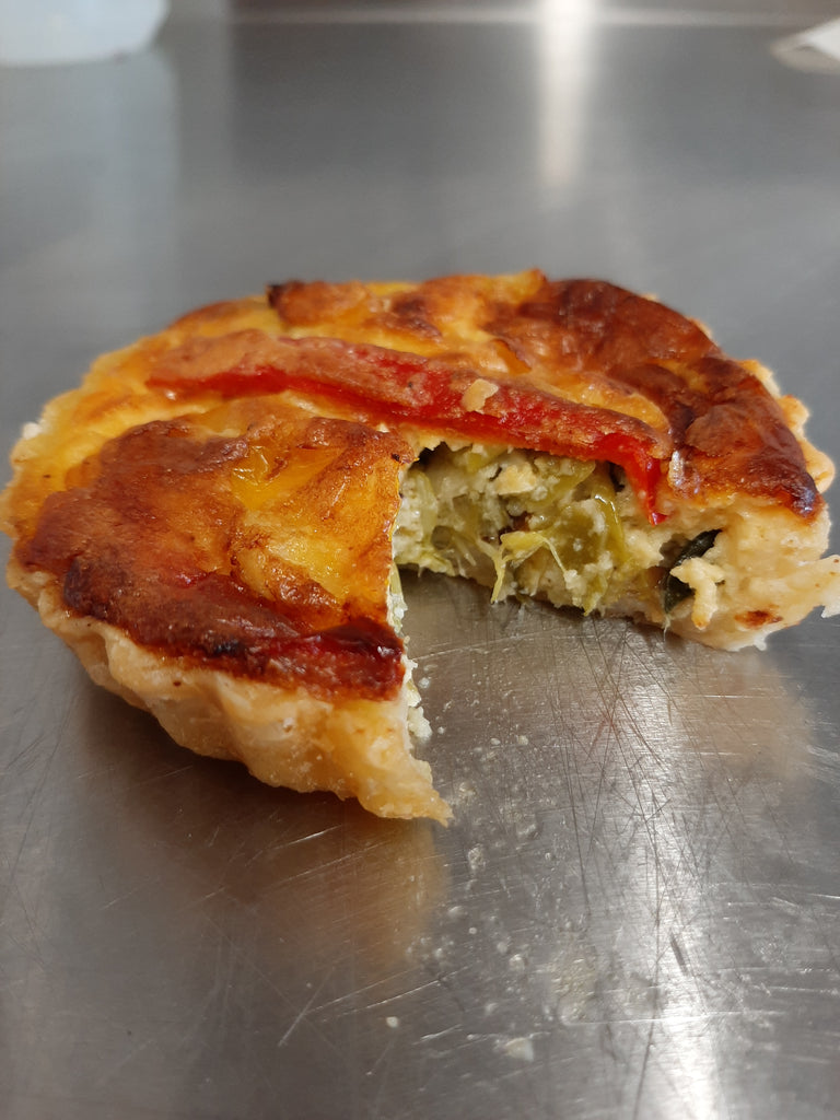 Leek and sweet pepper tart
