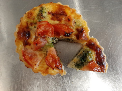 Broccoli,Tomato & Blue Cheese Tart