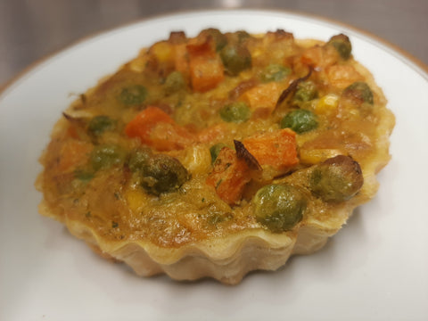 Curried veg tart
