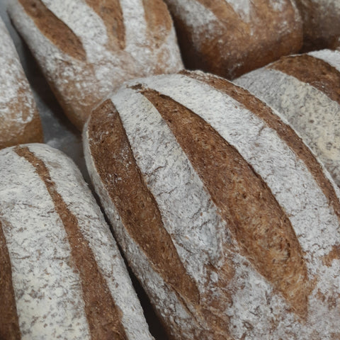 Vegan Wholemeal Sourdough Loaves