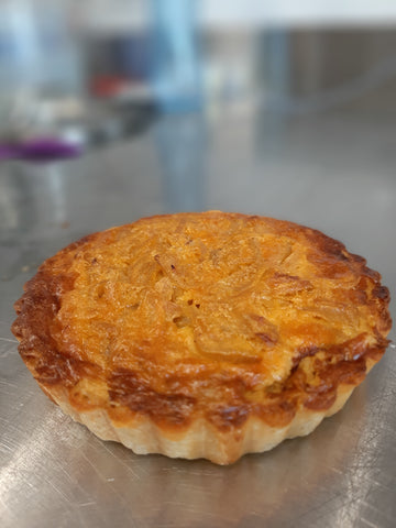 Curried onion tarts