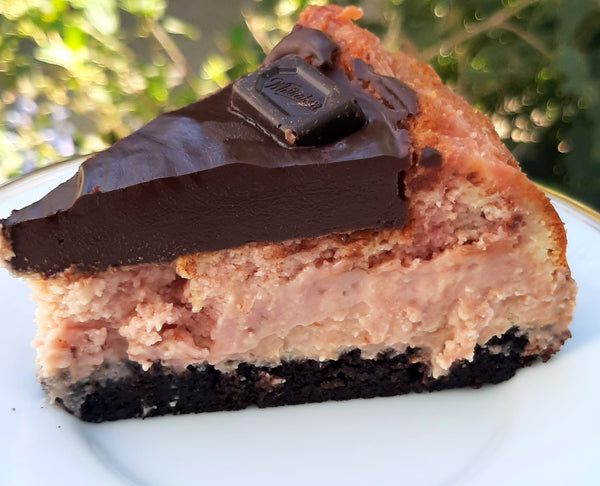 Strawberry Chocolate cheesecake