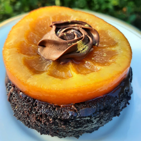 GF & Dairy-Free chocolate cake with orange dark chocolate