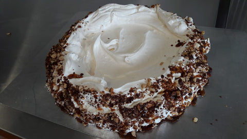 Spiced Almond Pavlova.