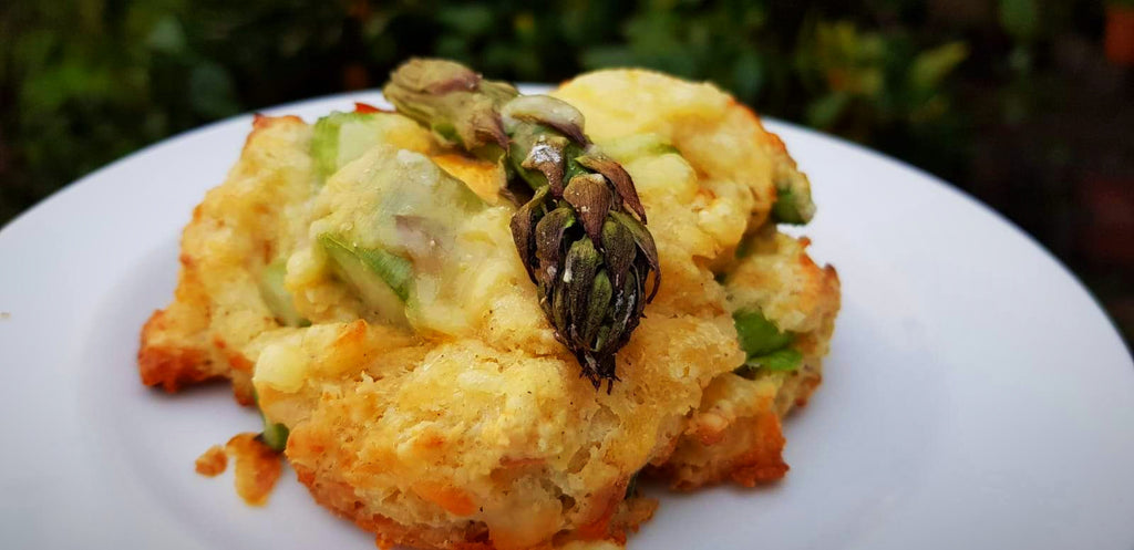 Asparagus & cheese scone