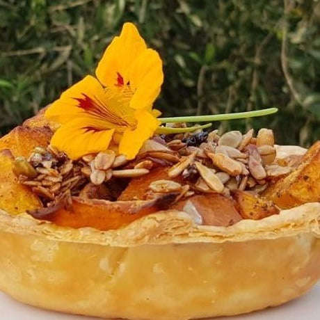 Pumpkin & Fennel pie with Parmesan granola.