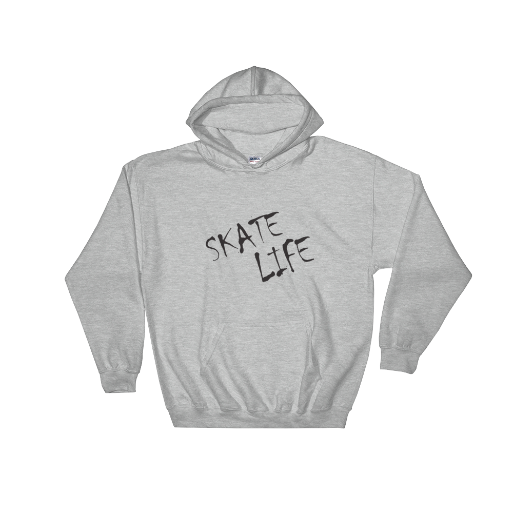 899286be Skate Life USA - Classic Hooded Sweatshirt - Gray - Skate Stuff Mall