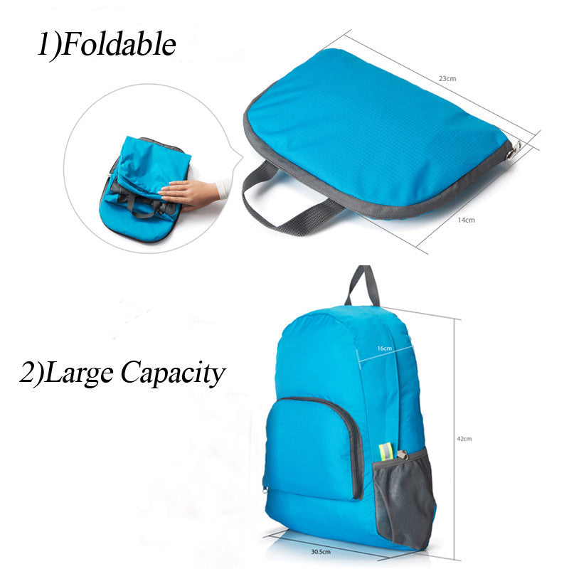CLEARANCE-Outdoor portable travel foldable light-weight backpack Waterproof sport nylon bag - MagCloset