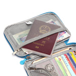 Woman Man Nylon Multifunction Passport Wallet Purse Cosmetic Bag Travel Storage Bag