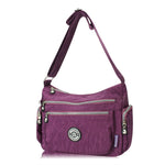 CLEARANCE-Women Casual Waterproof Nylon Multi-Pocket Shoulder Bag Crossbody Bag