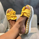 New Fashion Bowknot Thick Soles Slippers