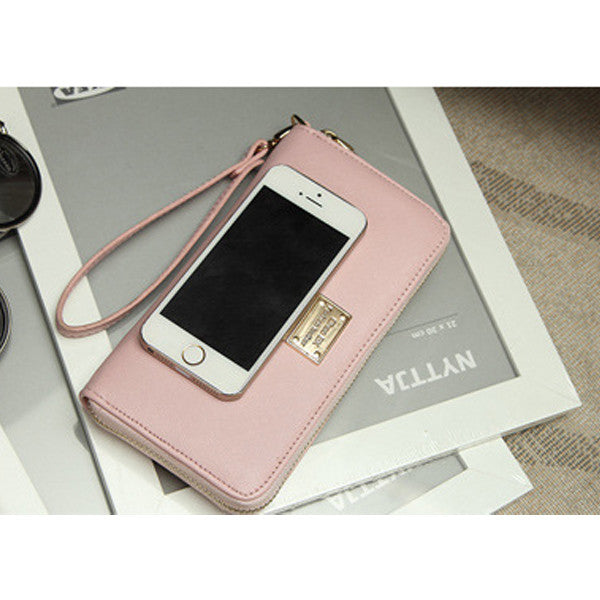 CLEARANCE-Women Phone PU Wallet Case Cover Long Wallet Purse