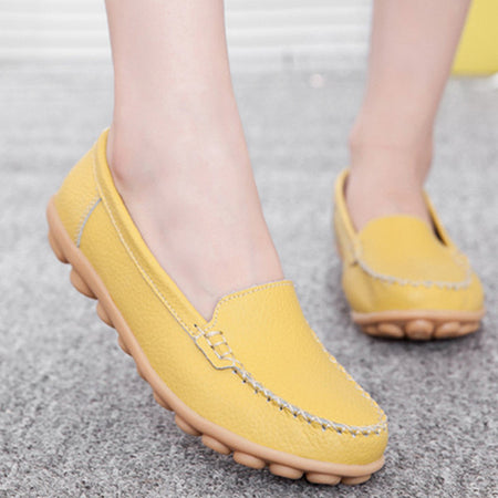 Women Comfy Shoes Casual Leather Flats Loafers Shoes