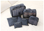 6Pcs Waterproof Travel Storage Bags Packing Cube Clothes Pouch Luggage Organizer - MagCloset