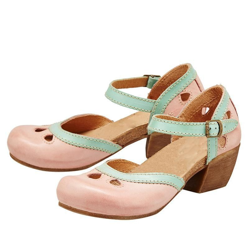 Chunky Heels Assorted Colors Casual Sandals
