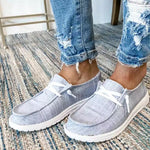 Canvas Casual Solid Color Flat Shoes