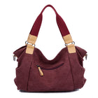 Canvas Large-Capacity Portable Shoulder Bag Crossbody Bag For Women - MagCloset
