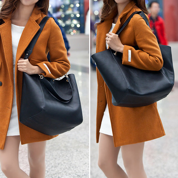 Women PU Leather Handbag Casual Crossbody Tote Bag