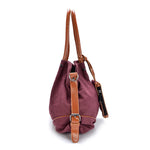 Canvas Portable Large-Capacity Womens Shoulder Crossbody Bag Handbag - MagCloset