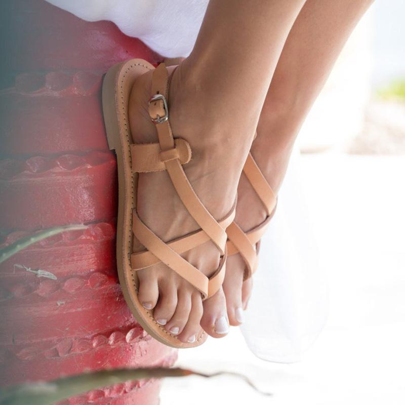 Summer Casual Strap Buckle Flat Sandals