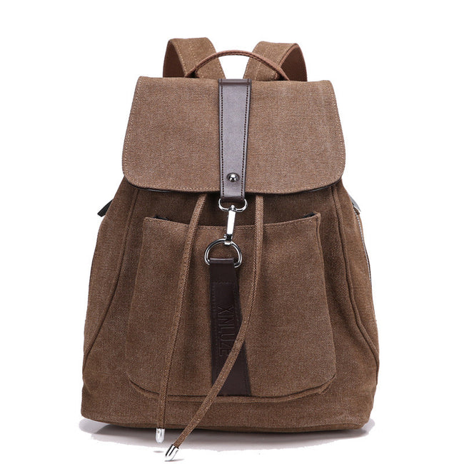 Fashion Vintage Casual Canvas Backpack New Women Men Bags - MagCloset