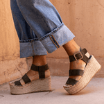 Espadrille Buckled Platform Sandals