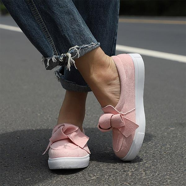 Large Size Casual Bowknot Shoes