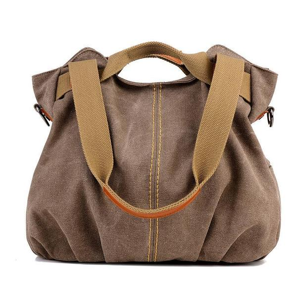 Vintage Canvas Portable Shoulder Bag Ladies Crossbody Bag