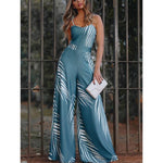 Women Sexy Sleveless Sling Printed Jumpsuits