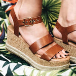 Espadrille Adjustable Buckled Wedges Sandals