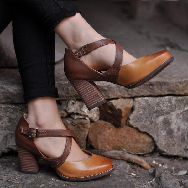 Women's High Heels Buckled Strap Sandals