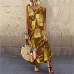 Sleeveless Printed Sleeveless Dress