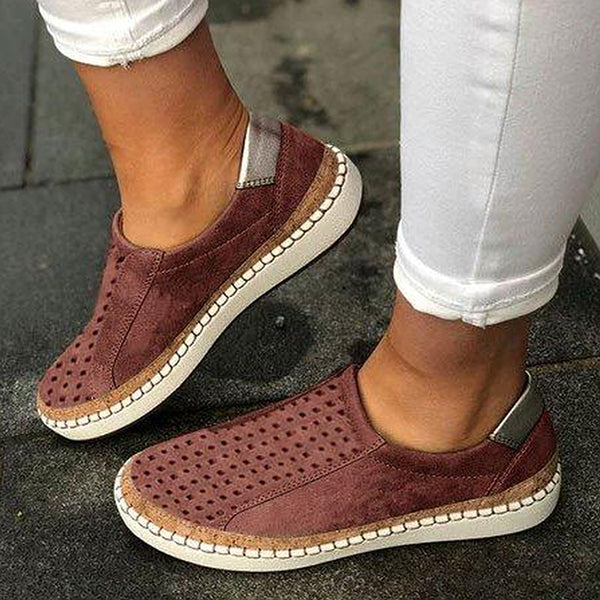 Daily Casual Hollow Flat Sneakers