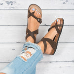 Ankle Strap Buckle Gladiator Thong Flat Sandals