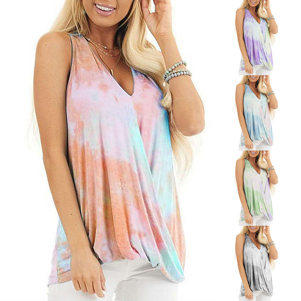 Tie-dyed printed Fashion Tank Top for Women