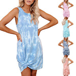 Tie-dye Vest Printed Loose Dress