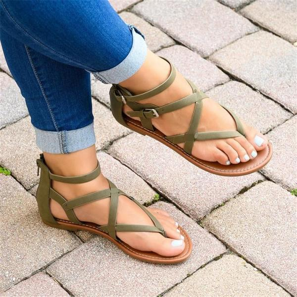Fashion Wild Cross Strap Sandals