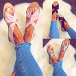 Strap Peep Toe Flat Beach Sandals