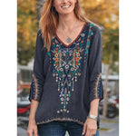 Women's Fashion Embroidered Blouse