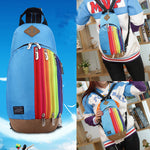 New womens backpack chest bag fashion rainbow multi-function crossbody bag