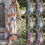 Tie-dye Striped Print Dress