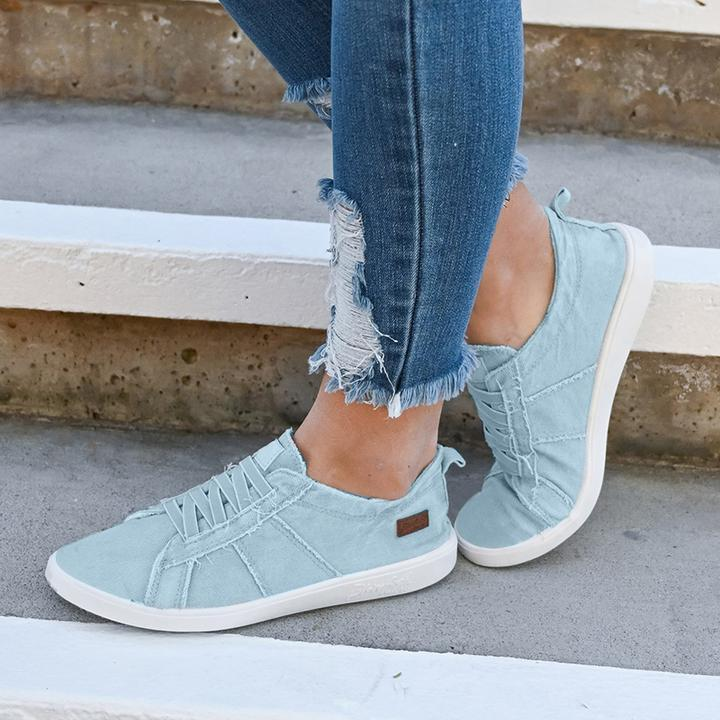 Women Vintage Slip-on Canvas Flats