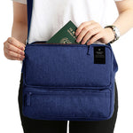 Women Men Unisex Outdoor Large Capacity Functional Laptop Shoulder Crossbody Storage Bag