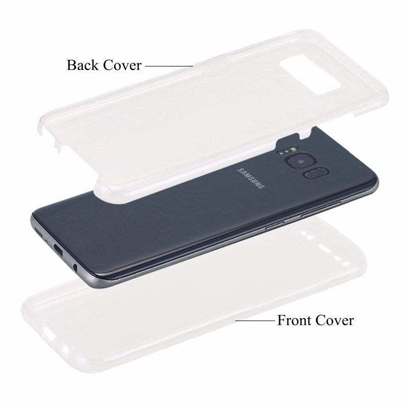 360¡ã Front And Back Protective TPU Clear Transparent Touch Screen Case For Samsung Galaxy S8 - MagCloset